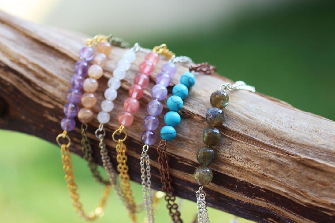 Lovely Layering Gemstone Bracelets by BlueSkyArts