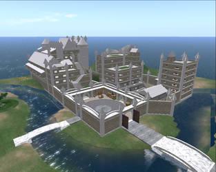 White Dragon Castle 1 by Krahazik