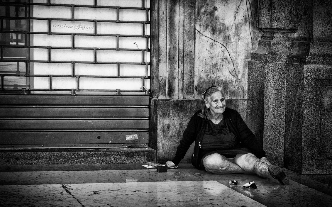 Smiling poverty by Blakk-mamba