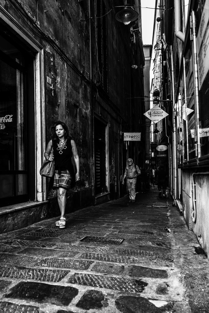 Alleys of Genoa by Blakk-mamba