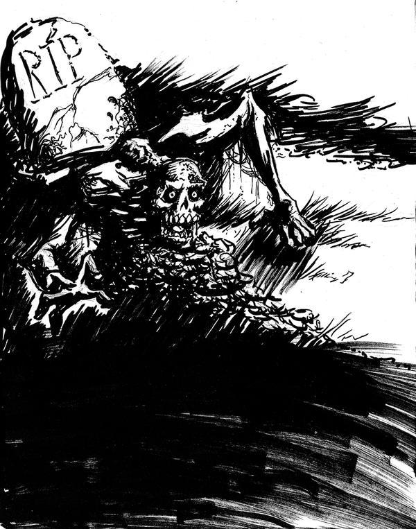Drawlloween Day 8: Zombie by chadf
