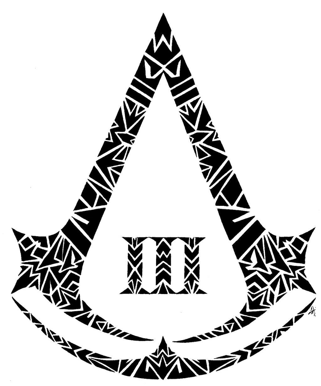 Assassin's Creed 3 Tribal Logo