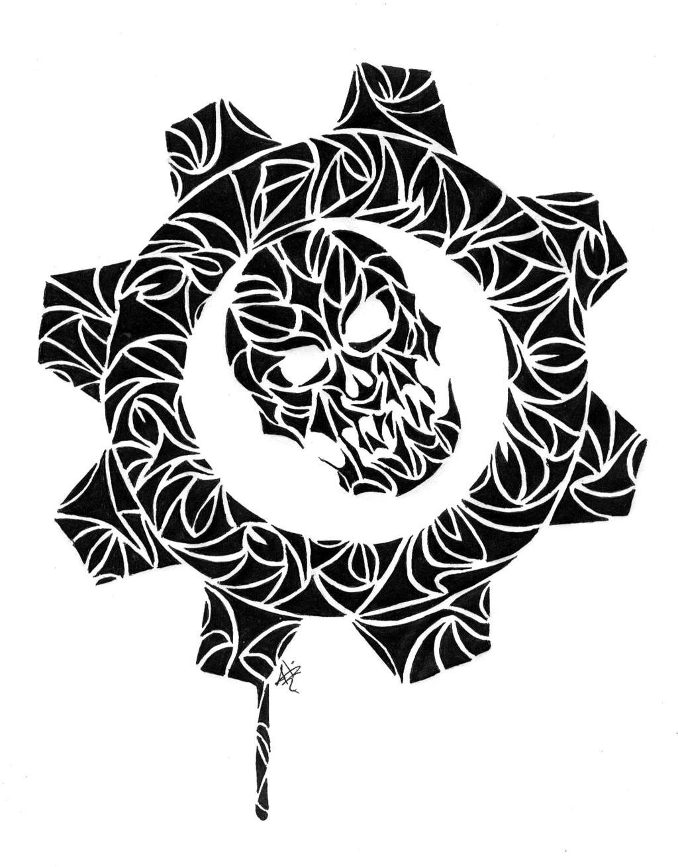 Gears Of War Logo Tribal By 0 Mariguana 0 On Deviantart