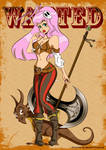 Dragon Girl Inked: Colored as Pirate Peg by TraciBrooks
