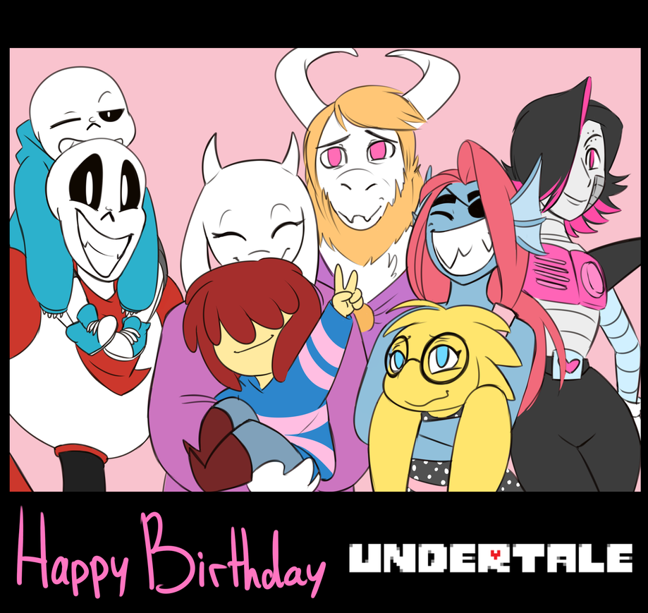 Happy Birthday Undertale! by HoveringAbout