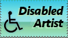 Disabled artist by InklopBunny
