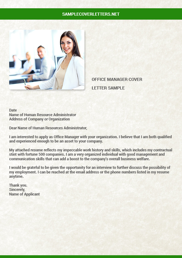 office manager cover letter sample by RobertInman12 on ...