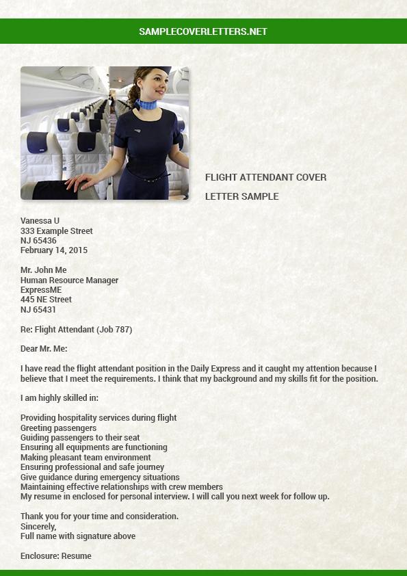 Cover Letter Sample For Flight Attendant Position With No Experience. Flight  Attendantover Letter Resume ...