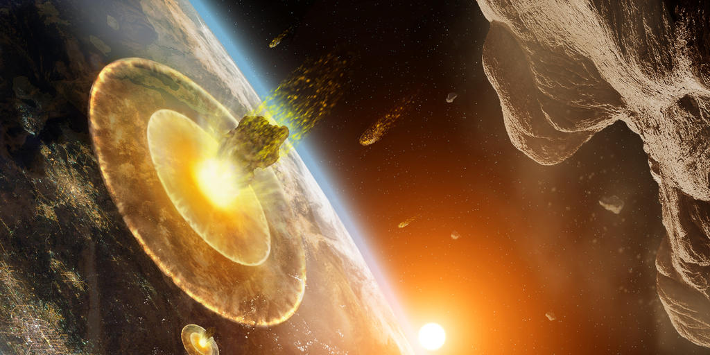 The Asteroids Hit Earth by SilentMobster42 on DeviantArt