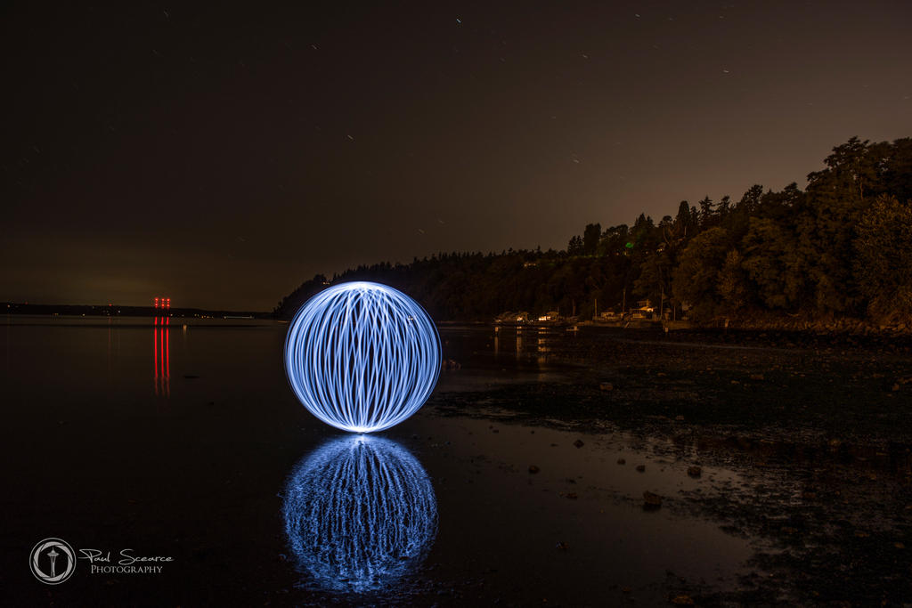Light Orb At Des Moines Marina Beach by SilentMobster42