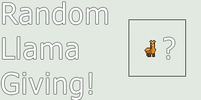 Random Llama Giving - iMacros by 2Noob4You on DeviantArt