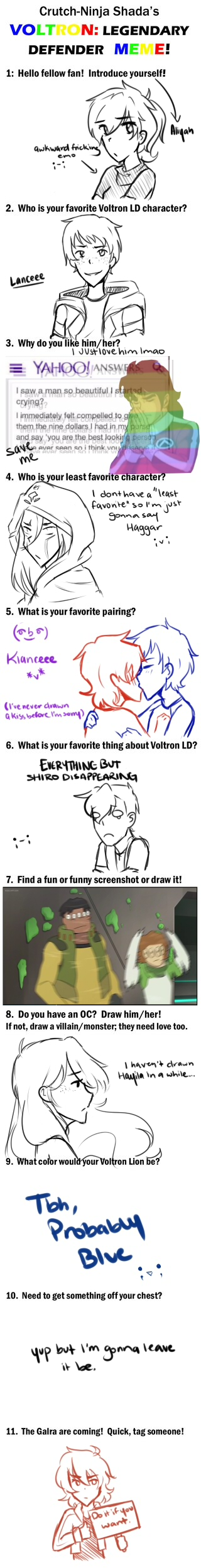 Voltron Meme (I got really bored ok) by AliyahIceQueen