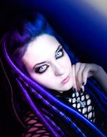 BluePurple CyberGoth by mysteria-violent