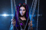 Cybergoth in purple