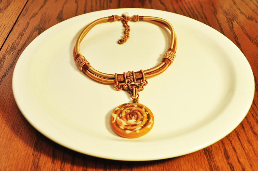 Sweet Cinnamon Roll Necklace by SweetSugaRush