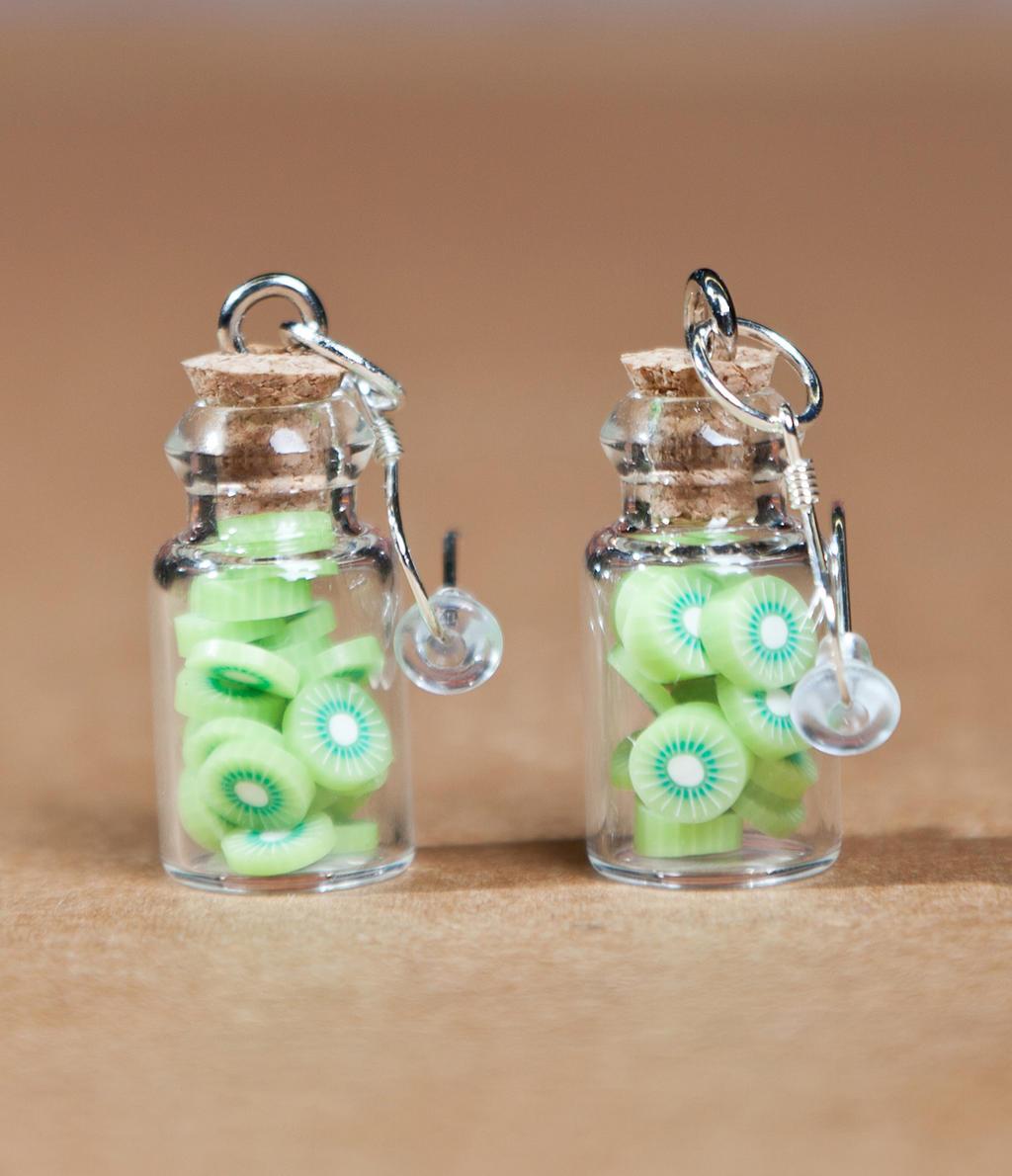 Bottled Kiwi Earrings by SweetSugaRush