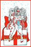 Clowny Friends Christmas Card
