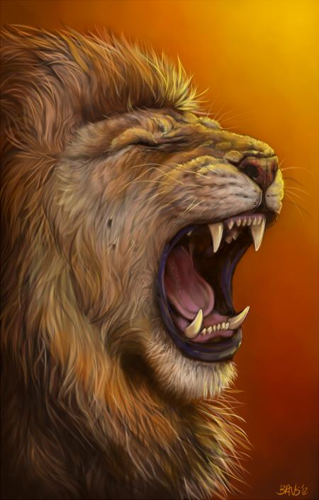 The gallery for --> Roaring Lion Head Front View