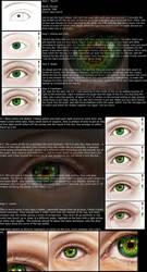 Realistic eye tutorial by Blattaphile