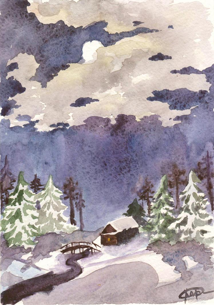Frosty night by Sevi-Sage