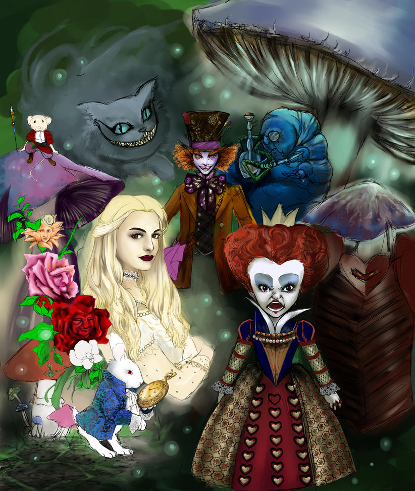 Alice in wonderland by Desaturateful