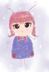 Little elegant bug called Christina by snowyraspberry