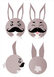Sir. Bunny character design by snowyraspberry
