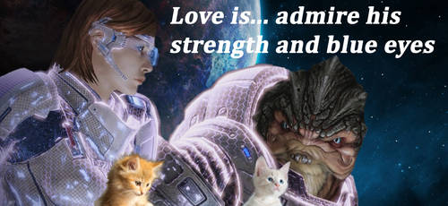 Love is... Shepard and Grunt