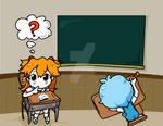 Evangelion at school