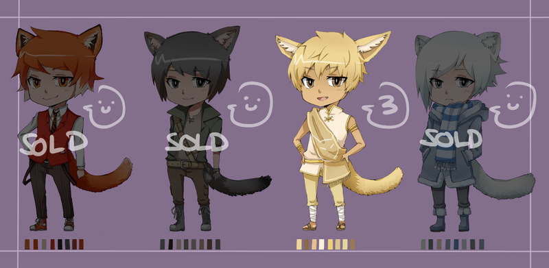 Fox Kemonomimi adoptables (CLOSED) by tetracyan