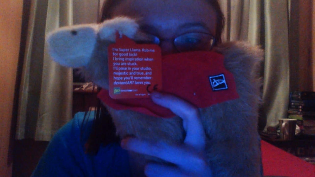 Super Llama Plushie's Message by British-Prophetess