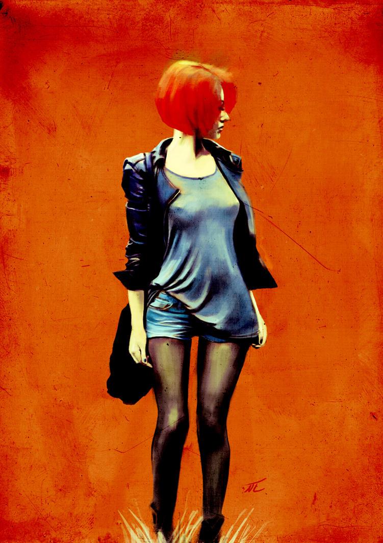 An Orange Girl by hamedsalek