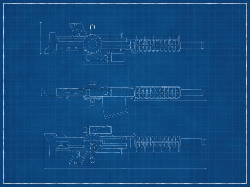 Milky shakester jason f deviantart gauss rifle blueprint by milky shakester malvernweather Image collections