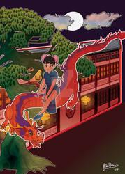 dragon girl by JulieGrissom