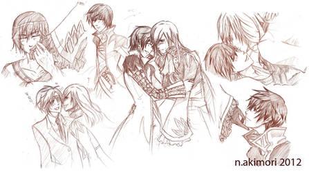 Random Asbel and Richard Sketches by shunjin