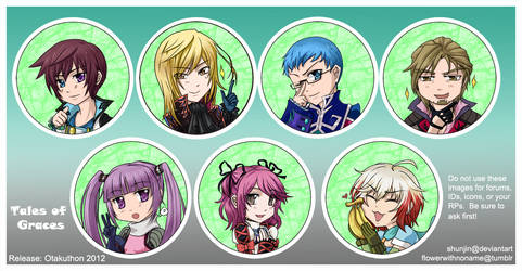 Tales of Graces Buttons by shunjin
