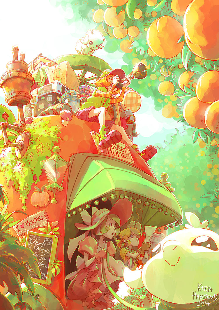 Peach Sisters by Jackoburra