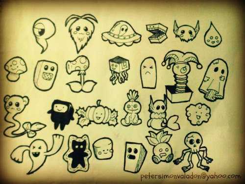 Doodle characters by anakng on deviantart for Doodle characters