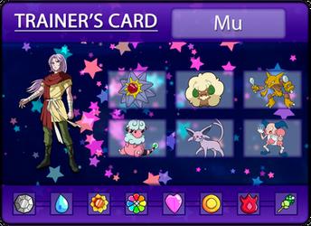 Mu's Trainer Card by Klarabw