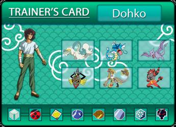 Dohko's Trainercard by Klarabw