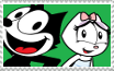 Felix and Kitty stamp by FelixFan9000
