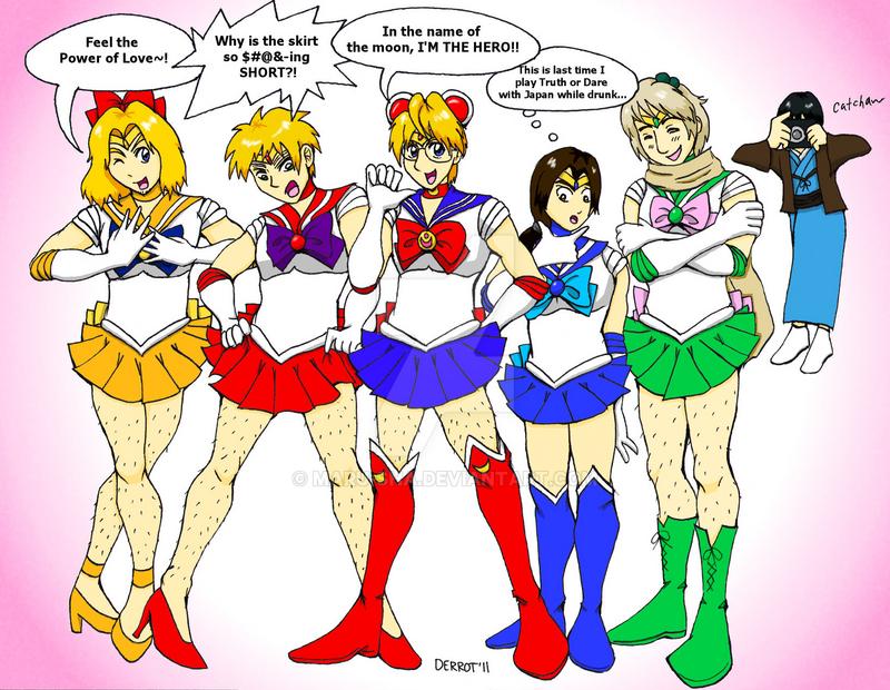 Hetalia - The Sailor Allies by Maru-sha