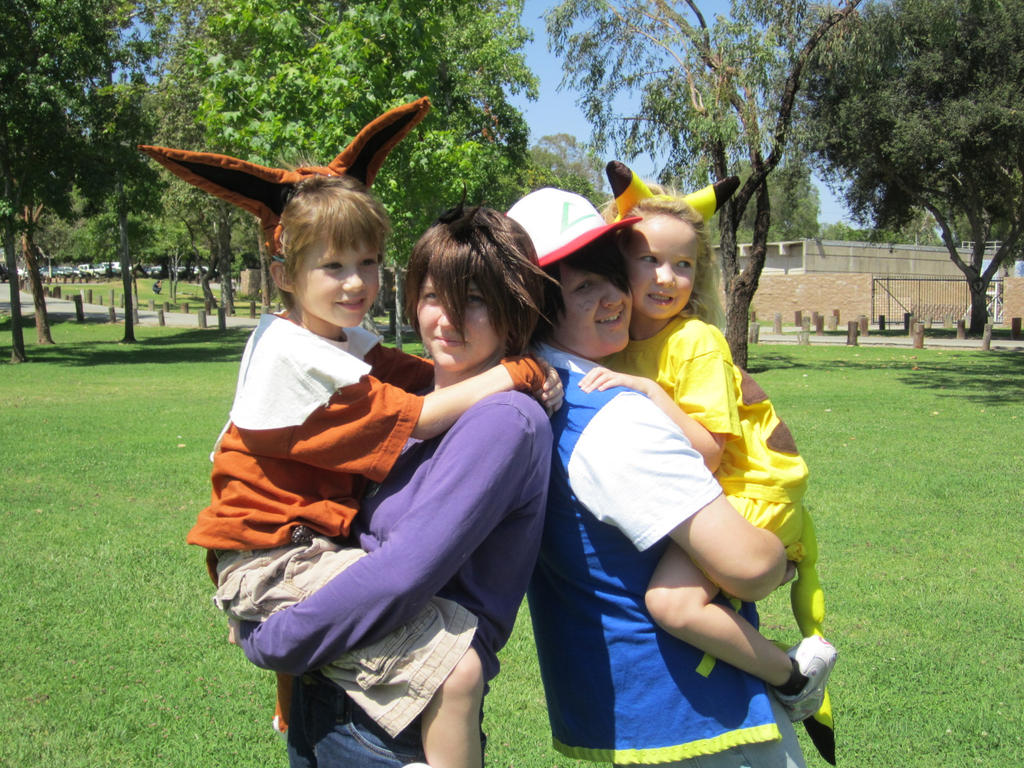 Ash and Gary: Starter Pokemon by Maru-sha