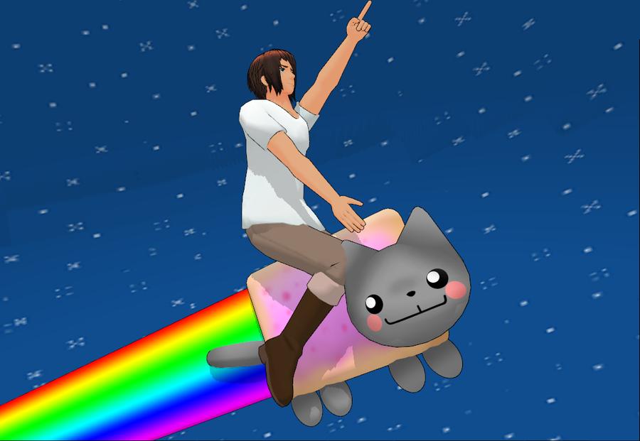 Greek Nyan Cat Push Toy