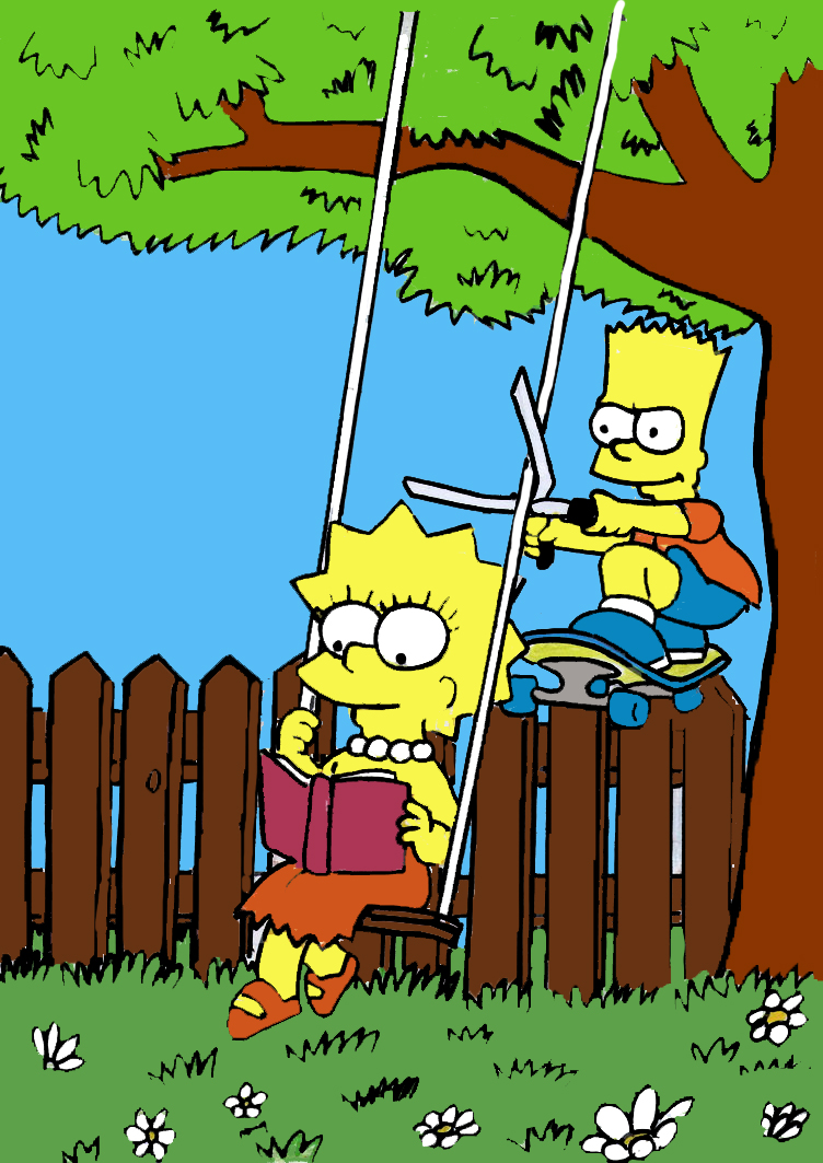 bart and lisa by sws-sisters