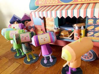 A popular hamburger shop