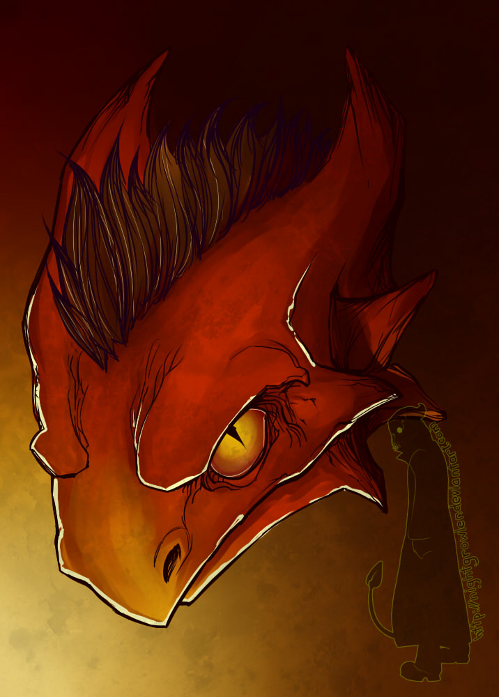DragonHalf by nightgrowler