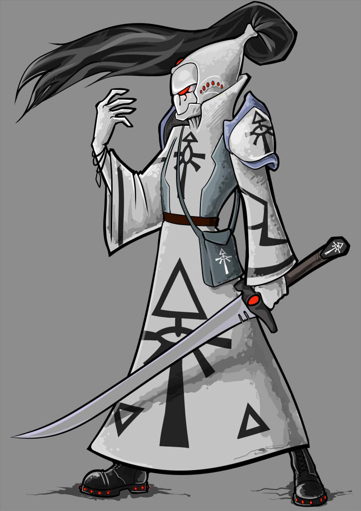 Eldar Warlock by nightgrowler