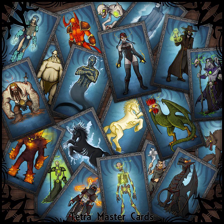 Tetra Master Cards by nightgrowler