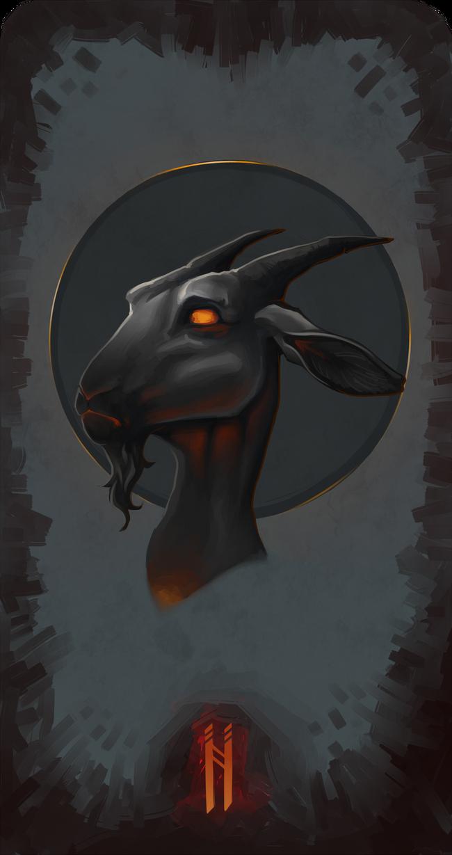Saint Firebreathing Goat by nightgrowler